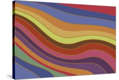 Modern Rainbow-Maria Trad-Stretched Canvas Print