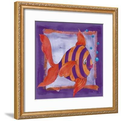 Fishes Colors 04-Maria Trad-Framed Giclee Print