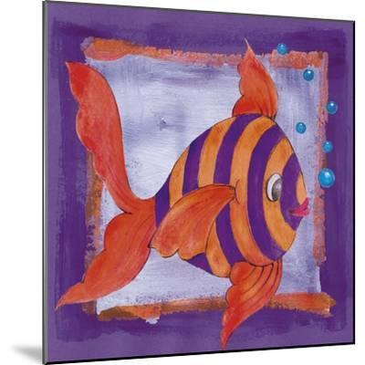 Fishes Colors 04-Maria Trad-Mounted Giclee Print
