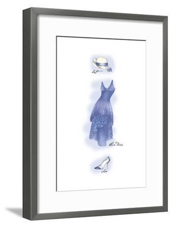 Blue Dress-Maria Trad-Framed Premium Giclee Print
