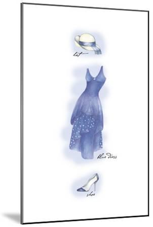 Blue Dress-Maria Trad-Mounted Premium Giclee Print