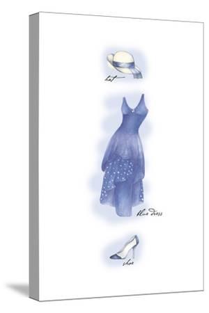 Blue Dress-Maria Trad-Stretched Canvas Print