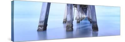 Naples Pier Morning-Moises Levy-Stretched Canvas Print