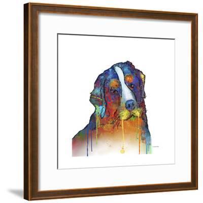 Bernese Mountain Dog-Marlene Watson-Framed Giclee Print