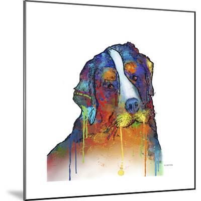 Bernese Mountain Dog-Marlene Watson-Mounted Giclee Print