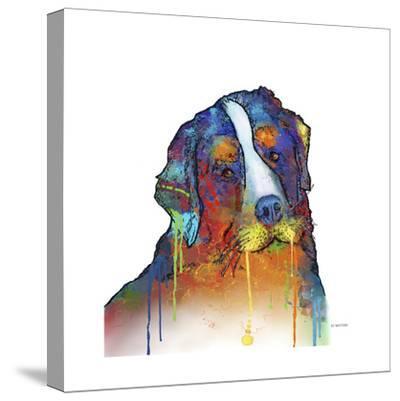 Bernese Mountain Dog-Marlene Watson-Stretched Canvas Print