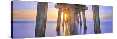 Naples Pier Panoramic II-Moises Levy-Stretched Canvas Print