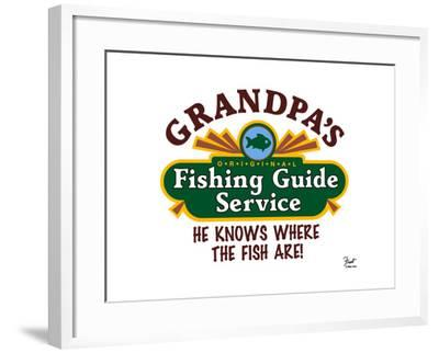 Grandpa's Fishing Guide Service-Mark Frost-Framed Giclee Print