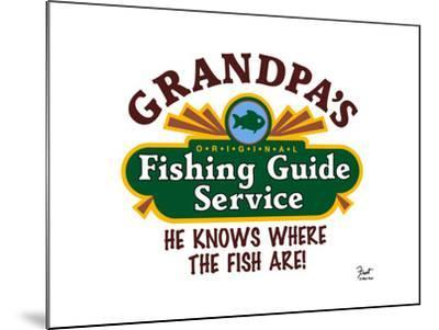 Grandpa's Fishing Guide Service-Mark Frost-Mounted Giclee Print