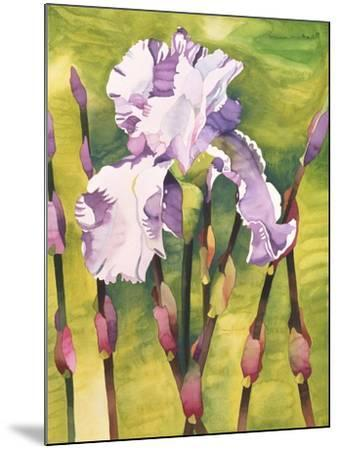 Forest Iris-Mary Russel-Mounted Giclee Print