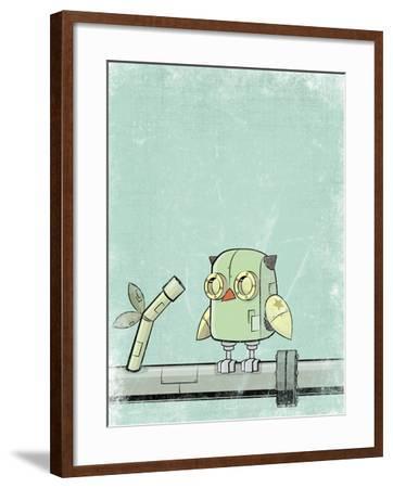 Blue Owl-Michael Murdock-Framed Giclee Print