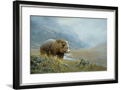 Autumn Ascent Grizzly-Michael Budden-Framed Giclee Print