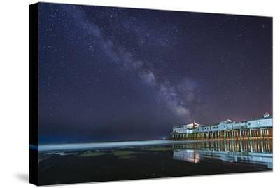 Pier in the Stars-Michael Blanchette-Stretched Canvas Print