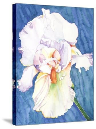 White Iris-Mary Russel-Stretched Canvas Print