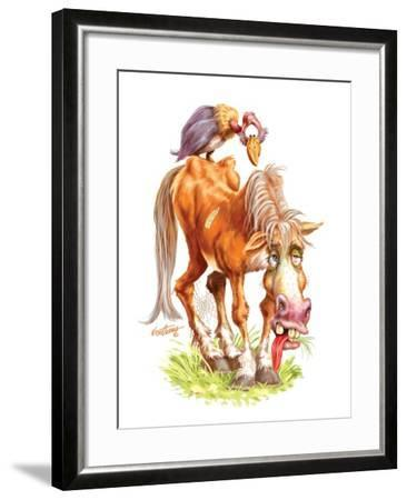 Get Well Old Horse-Nate Owens-Framed Giclee Print