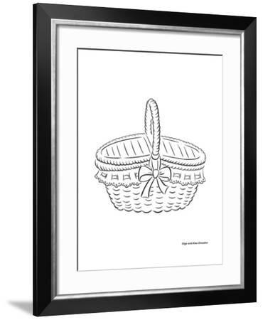 Basket with a Bow-Olga And Alexey Drozdov-Framed Giclee Print