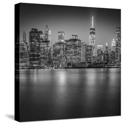 Manhattan Skyline Night-Edit-3-Moises Levy-Stretched Canvas Print