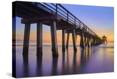 Naples Pier Panoramic III-Moises Levy-Stretched Canvas Print