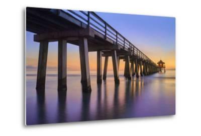 Naples Pier Panoramic III-Moises Levy-Metal Print
