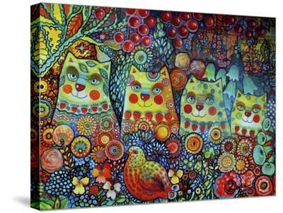 Happy Cats-Oxana Zaika-Stretched Canvas Print