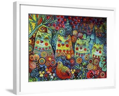 Happy Cats-Oxana Zaika-Framed Giclee Print