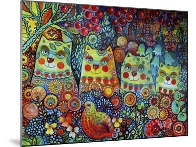 Happy Cats-Oxana Zaika-Mounted Giclee Print