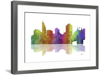 Cincinnati Ohio Skyline 1-Marlene Watson-Framed Giclee Print
