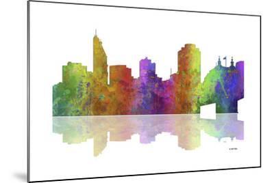 Cincinnati Ohio Skyline 1-Marlene Watson-Mounted Giclee Print