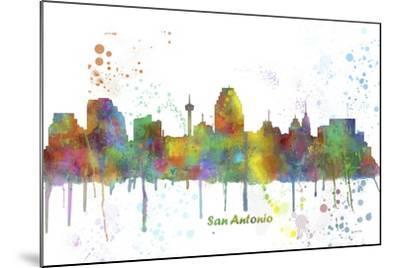 San Antonio Texas Skyline MCLR 1-Marlene Watson-Mounted Giclee Print