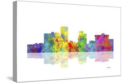Little Rock Arkansas Skyline 1-Marlene Watson-Stretched Canvas Print