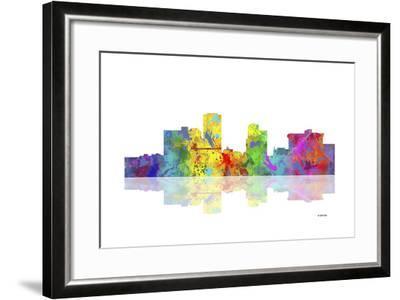 Little Rock Arkansas Skyline 1-Marlene Watson-Framed Giclee Print