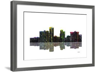Little Rock Arkansas Skyline BW 1-Marlene Watson-Framed Giclee Print