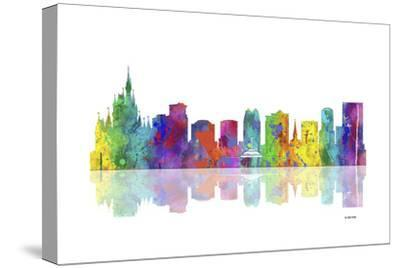 Orlando Florida Skyline 1-Marlene Watson-Stretched Canvas Print