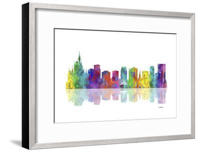 Orlando Florida Skyline 1-Marlene Watson-Framed Giclee Print