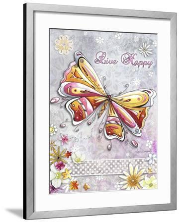 Live Happy-Megan Duncanson-Framed Giclee Print