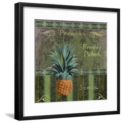 Fresh Pineapples-Mindy Sommers-Framed Giclee Print