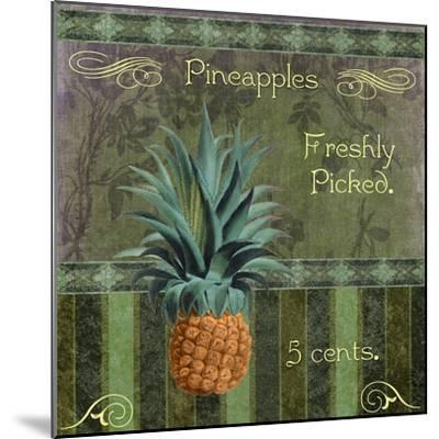 Fresh Pineapples-Mindy Sommers-Mounted Giclee Print