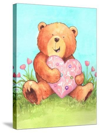 Bear with Heart-Melinda Hipsher-Stretched Canvas Print