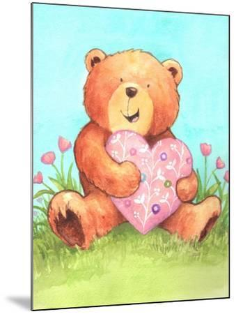 Bear with Heart-Melinda Hipsher-Mounted Giclee Print