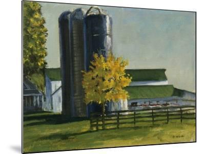 Silos by a Farm-Michael Budden-Mounted Giclee Print