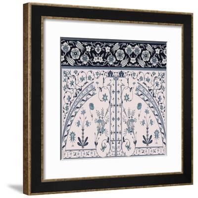Wedgewood Trellis-Mindy Sommers-Framed Giclee Print