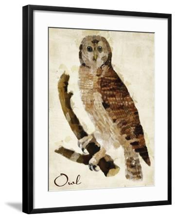 Brown Owl-Mindy Sommers-Framed Giclee Print