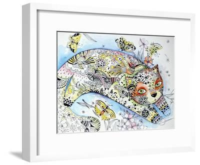 White Cat-Oxana Zaika-Framed Giclee Print