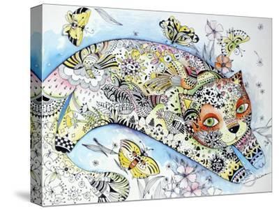 White Cat-Oxana Zaika-Stretched Canvas Print