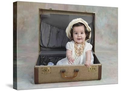 Girl in a Suitcase-Nora Hernandez-Stretched Canvas Print