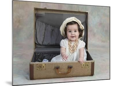 Girl in a Suitcase-Nora Hernandez-Mounted Giclee Print