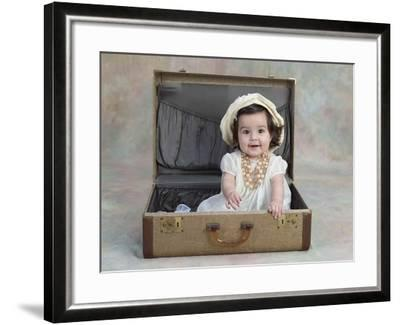 Girl in a Suitcase-Nora Hernandez-Framed Giclee Print