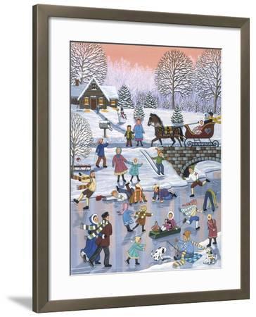 Twilight Skaters-Sheila Lee-Framed Giclee Print