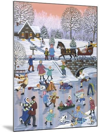 Twilight Skaters-Sheila Lee-Mounted Giclee Print