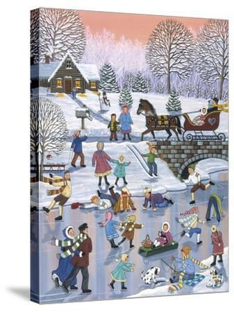 Twilight Skaters-Sheila Lee-Stretched Canvas Print
